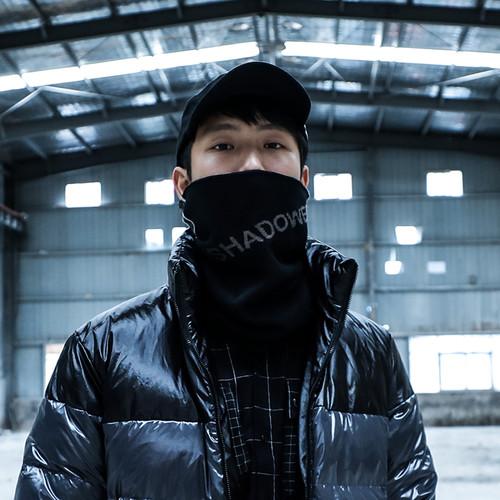 ENSHADOWER隐蔽者纯棉拼接毛线围脖冬季保暖脖套运动骑行潮牌面罩