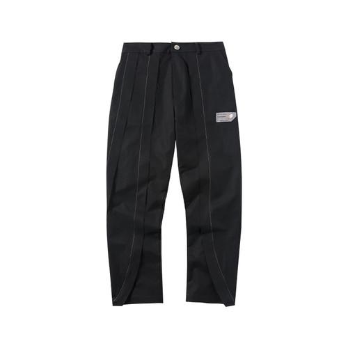 ENSHADOWER隐蔽者春季毛边明线直筒裤潮流休闲长裤垂感西装裤男裤