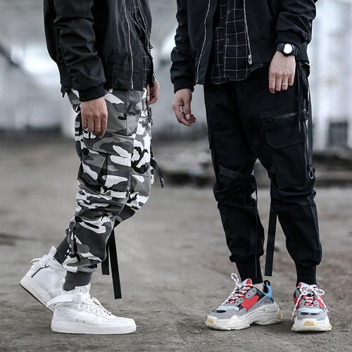 ENSHADOWER隐蔽者多口袋束脚裤男国潮工装裤高街战术服机能伞兵裤