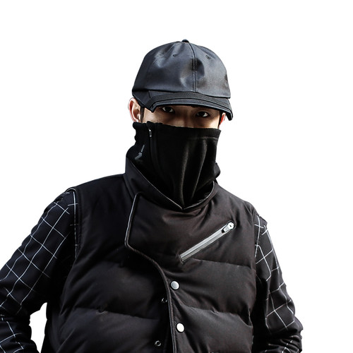 ENSHADOWER隐蔽者摇粒绒机能抽绳拉链快拆围脖保暖套头围巾