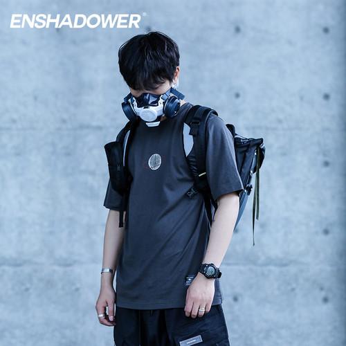 ENSHADOWER隐蔽者潮牌多色纯棉短袖T恤男国潮字母印花半袖打底衫