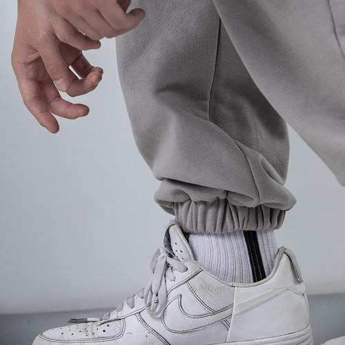ENSHADOWER隐蔽者多口袋加绒针织卫裤男冬新款加厚宽松潮牌束脚裤