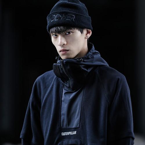 ENSHADOWER隐蔽者xCAT联名机能假两件连帽卫衣男潮流拼接帽衫上衣