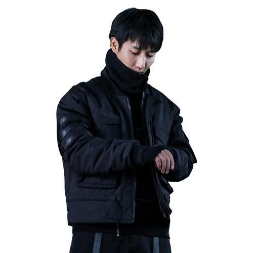 ENSHADOWER隐蔽者潮牌不规则口袋棉衣夹克宽松工装立领飞行棉服男