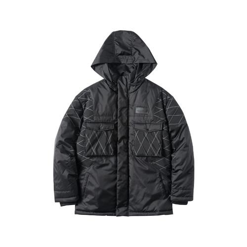 ENSHADOWER隐蔽者新款菱格拼接棉衣男 潮流冬季加厚外套工装棉服