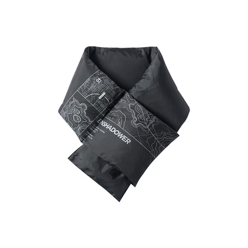 ENSHADOWER隐蔽者新款可收纳白鸭绒围巾线迹印花防寒保暖户外围脖