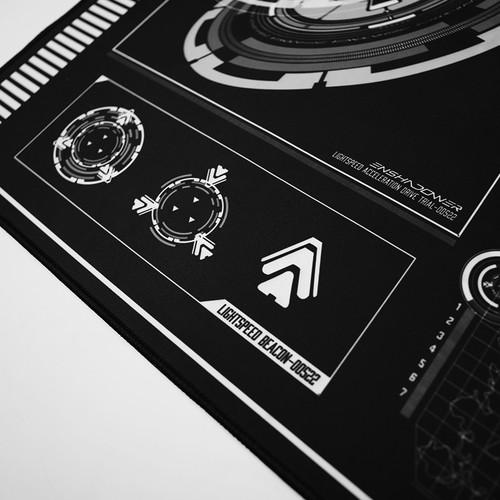 ENSHADOWER隐蔽者机动鼠标垫笔记本电脑桌垫游戏全尺寸键盘垫