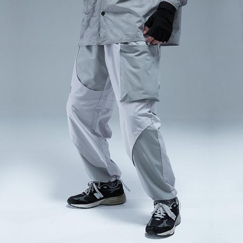 ENSHADOWER隐蔽者潮牌曲线活页束脚裤男休闲宽松工装抽绳收口长裤