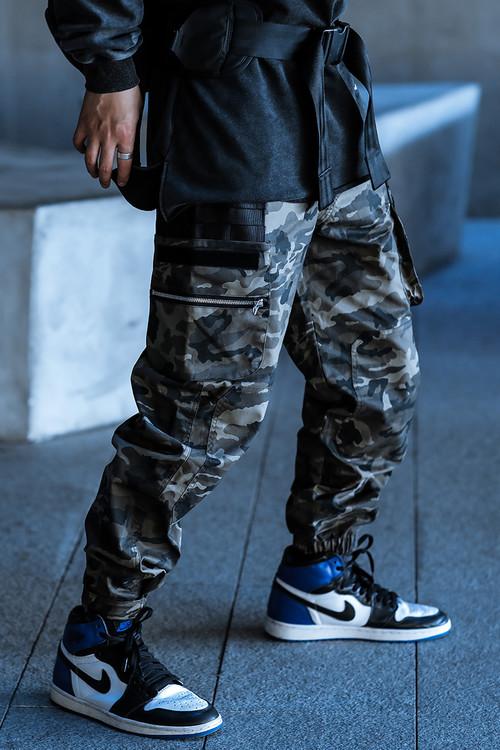 ENSHADOWER隐蔽者工装裤男多口袋束脚裤潮流休闲裤宽松迷彩裤长裤