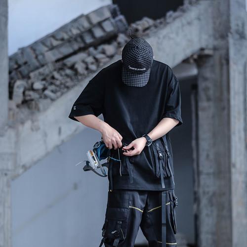 ENSHADOWER隐蔽者xCAT联名异质口袋印花T恤潮流工装打底衫短袖男