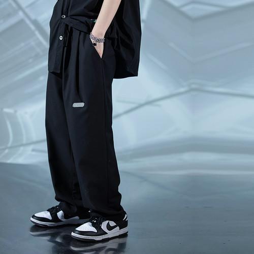 ENSHADOWER隐蔽者春夏季宽松西装裤男宽松垂坠感直筒阔腿裤休闲裤