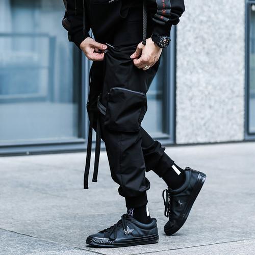 ENSHADOWER隐蔽者19SS立体口袋飘带伞兵裤机能战术服工装束脚裤男
