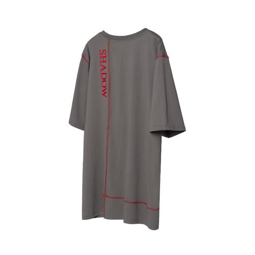 ENSHADOWER隐蔽者夏季潮牌t恤裁片拼接立体口袋短袖宽松印花TEE