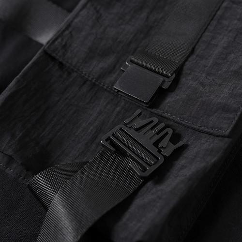 ENSHADOWER隐蔽者机能风假两件短袖T恤男工装马甲拼接体恤上衣潮