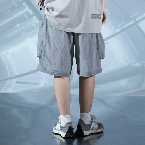 ENSHADOWER隐蔽者反光渐变短裤男夏季潮流外穿宽松休闲五分工装裤