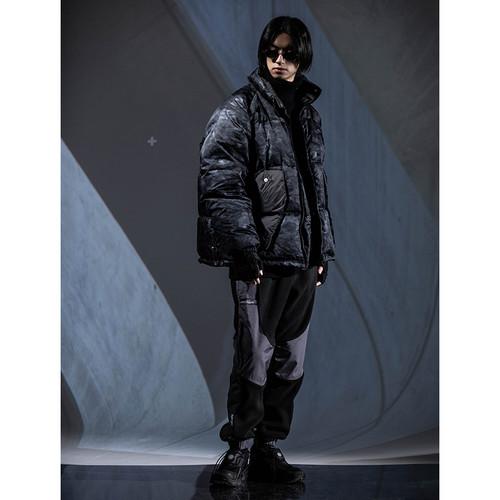ENSHADOWER隐蔽者两面穿迷彩织带棉衣男宽松加厚情侣款棉服外套潮