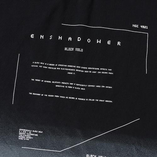 ENSHADOWER隐蔽者夏季洗水渐变色短袖T恤男国潮印花宽松半袖tee