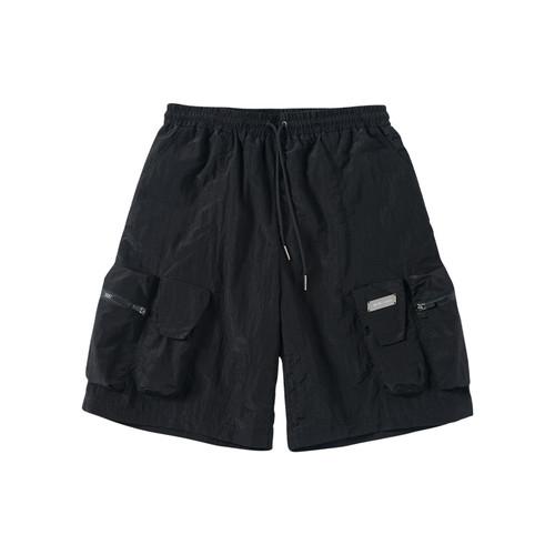 ENSHADOWER隐蔽者夏季男士宽松工装短裤多口袋黑色直筒运动五分裤