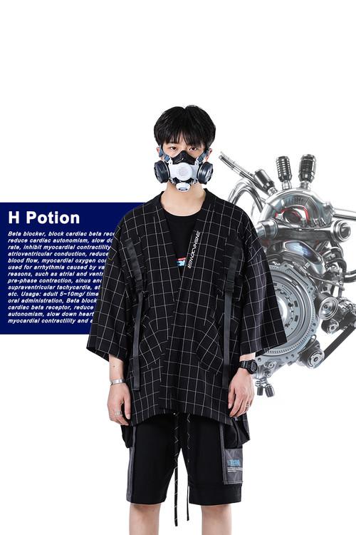 ENSHADOWER隐蔽者【E型药剂系列】工装格子道袍夹克男宽松外套潮