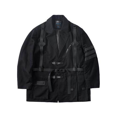ENSHADOWER隐蔽者可拆卸战术西装外套工装机能风黑色宽松休闲夹克