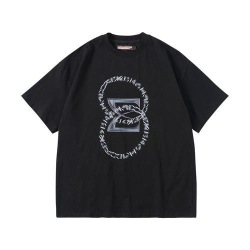 ENSHADOWER隐蔽者故障代码印花短袖T恤男国潮新疆棉打底衫体恤夏