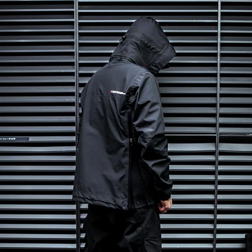ENSHADOWER隐蔽者可拆卸帽压胶冲锋衣 休闲潮男PRO夹克黑色外套男