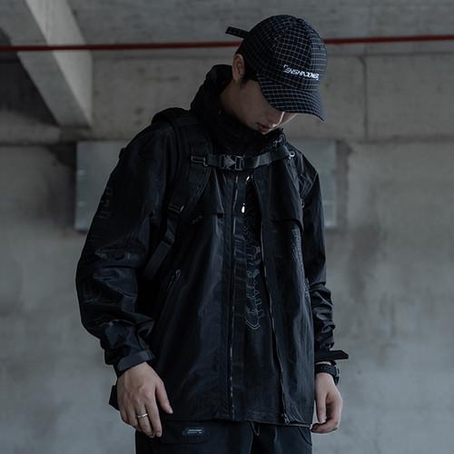 ENSHADOWER隐蔽者新款金属光感冲锋衣男宽松休闲外套机能国潮夹克