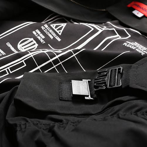 ENSHADOWER隐蔽者2017AW机能防水抽褶袖多口袋薄款空军夹克