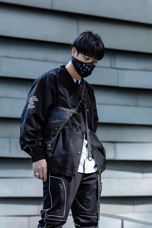 ENSHADOWER隐蔽者新品大口袋教练夹克男春秋季工装宽松外套上衣潮
