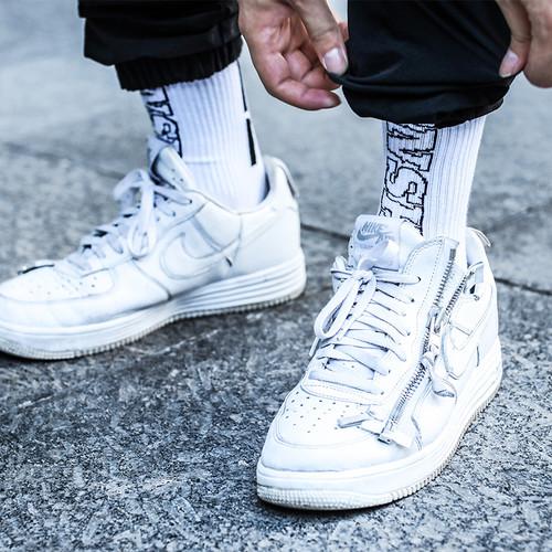 ENSHADOWER隐蔽者基础大LOGO男士袜运动袜棉袜中筒袜两双