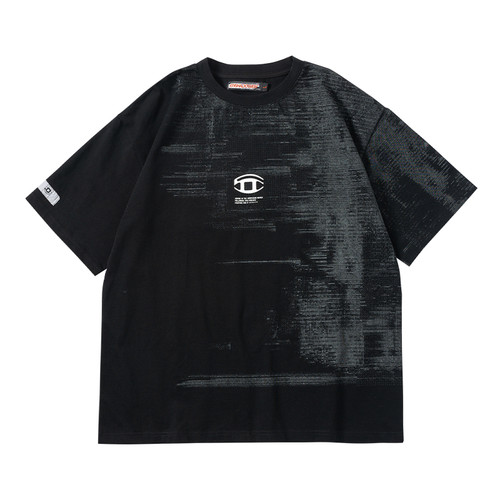 ENSHADOWER隐蔽者故障代码印花T恤男国潮半袖纯棉打底衫体恤夏季