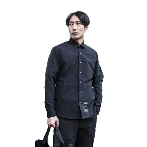 ENSHADOWER隐蔽者2017AW反光袖衬衣男休闲潮牌青年长袖衬衫