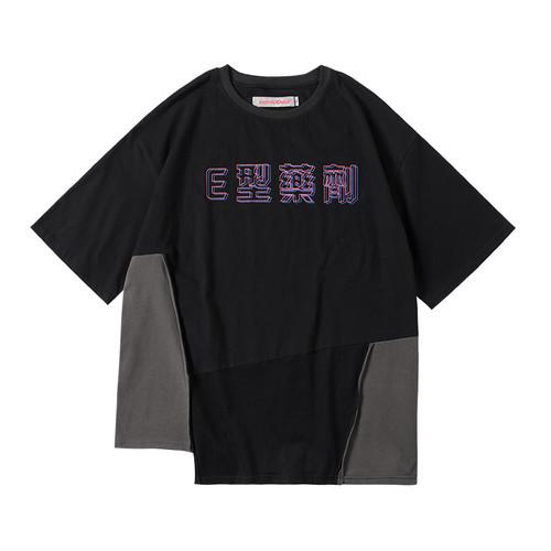 ENSHADOWER隐蔽者【E型药剂系列】潮牌印花拼接短袖T恤男宽松上衣