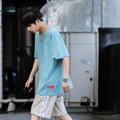 ENSHADOWER隐蔽者新款宽松袖口不规则短袖标语印花T恤潮牌打底衫