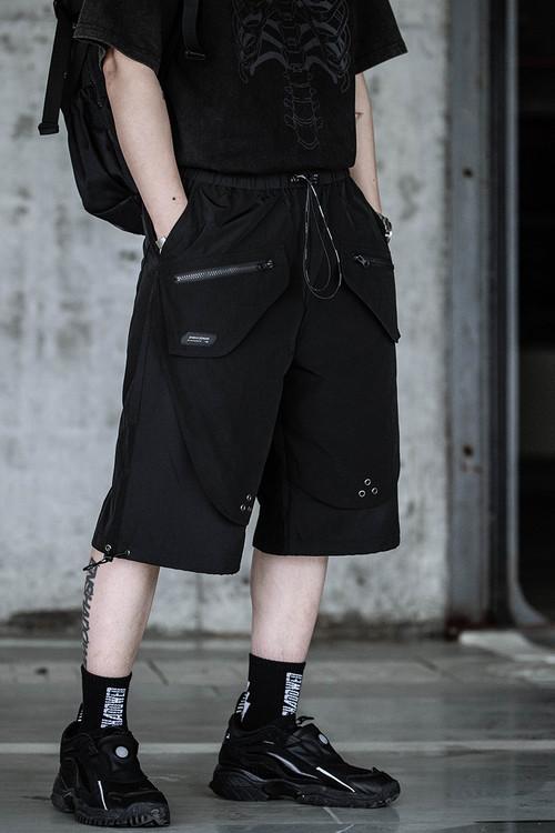 ENSHADOWER隐蔽者休闲抽绳活页短裤男潮流宽松五分裤运动工装中裤