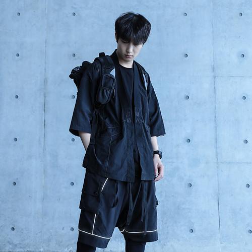 ENSHADOWER隐蔽者反光刺绣可收纳道袍外套男宽松复古中国风夹克潮