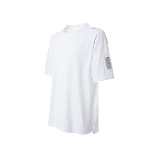 ENSHADOWER隐蔽者夏季新款袖口PVC口袋T恤男圆领宽松短袖打底衫潮