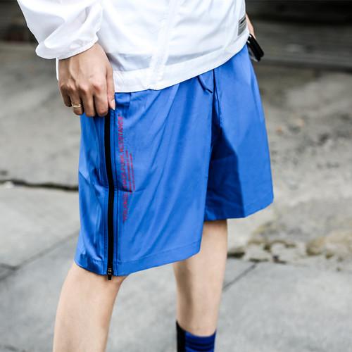ENSHADOWER隐蔽者薄款侧边拉链五分裤休闲运动宽松短裤潮流沙滩裤