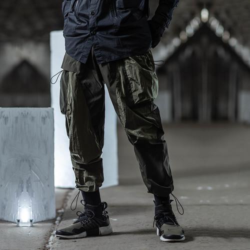 ENSHADOWER隐蔽者抽绳束脚裤男国潮工装宽松运动裤高街大口袋长裤