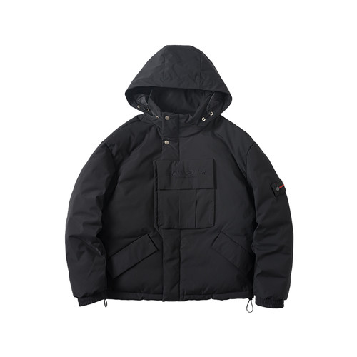 ENSHADOWER隐蔽者战术织带羽绒服男冬季潮牌工装连帽加厚男士外套
