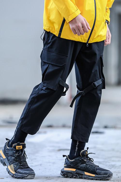 ENSHADOWER隐蔽者xCAT联名款大口袋伞兵裤九分裤工装潮男休闲裤