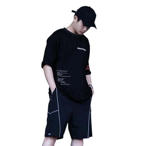 ENSHADOWER隐蔽者不规则潮牌M64印花短袖T恤国潮复古做旧体恤男t