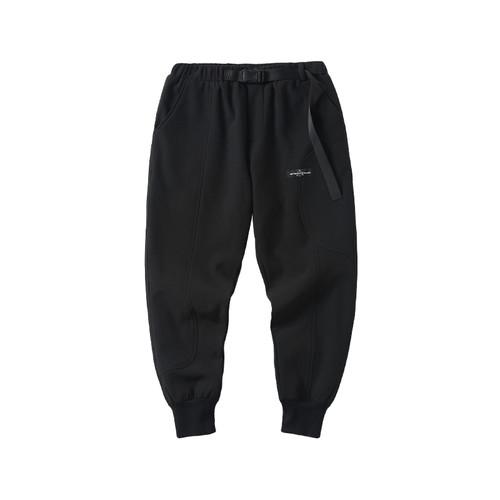 ENSHADOWER隐蔽者冬季加绒曲线拼接束脚裤男潮流黑色休闲裤运动裤
