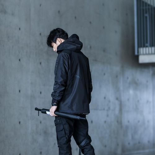 ENSHADOWER隐蔽者春新款黑色套头冲锋衣男潮牌机能风宽松国潮夹克