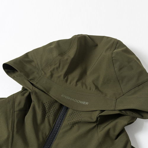 ENSHADOWER隐蔽者拼色斜拉链压胶冲锋衣潮牌宽松夹克国潮机能外套