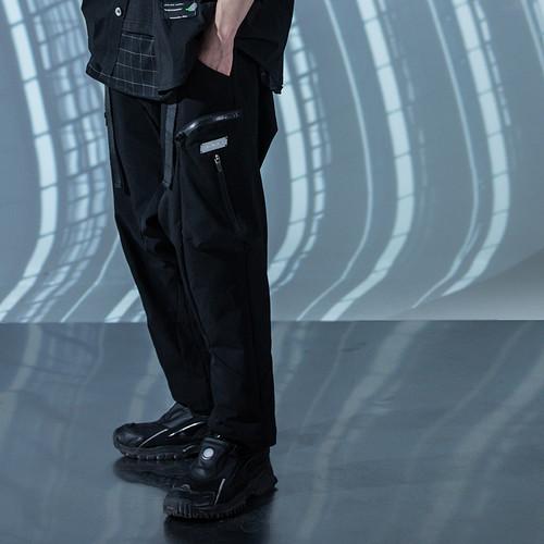 ENSHADOWER隐蔽者国潮双飘带立体裁片九分裤男直筒休闲工装裤长裤