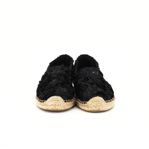 S/S 2020春夏 女士麻底休闲鞋 01866W 黑色