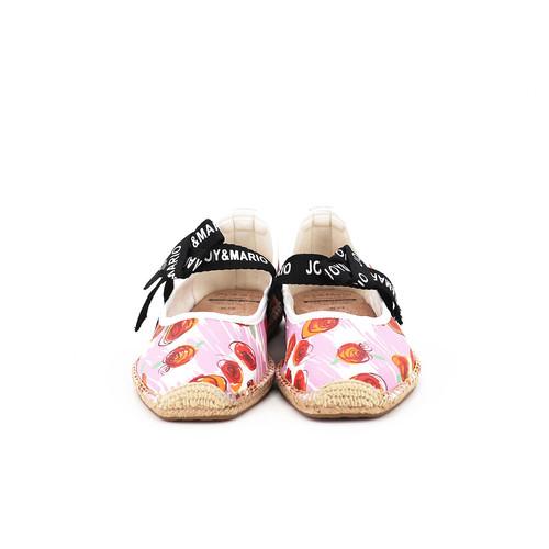 S/S 2020春夏 女士蝴蝶结麻底休闲鞋 01855W 桃红色