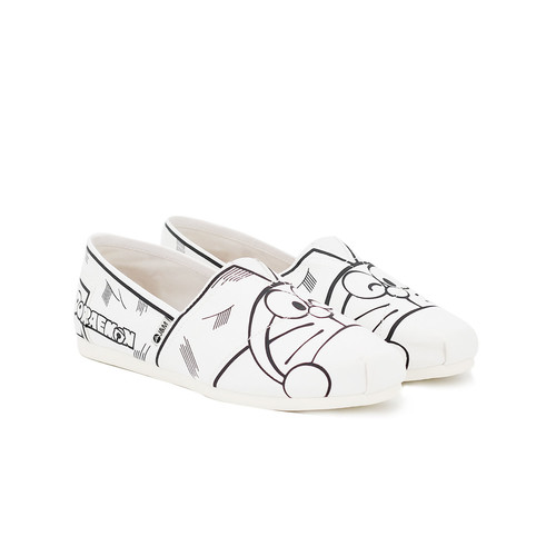 S/S 2020春夏 女士哆啦A梦联名款帆布休闲鞋 62167W 白色