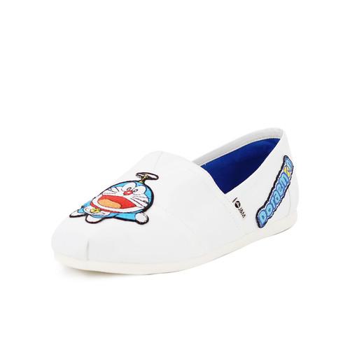 S/S 2020春夏 女士哆啦A梦联名款帆布休闲鞋 62199W 白色